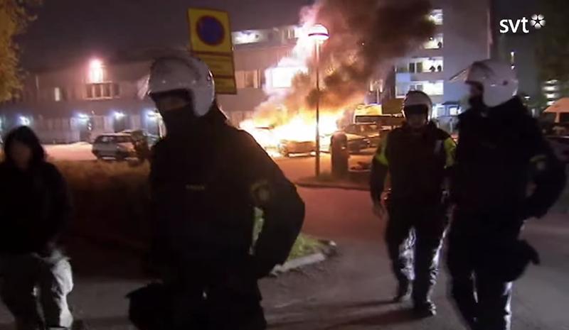 Husbykravallerna 2015 - Foto: SVT Uppdrag-Granskning, skärmdump