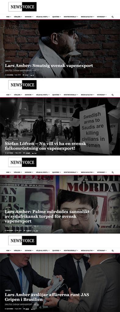 Lars Amber - Artiklar i NewsVoice