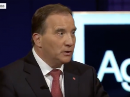 Stefan Löfven den 6:e maj 2018 #Valet2018 - Foto: SVT Agenda