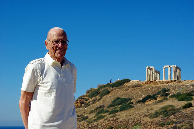 Sture Linnér, Cape Sounion i oktober 2009. Foto: Posse Stryngford, Wikimedia Commons, CC BY 3.0