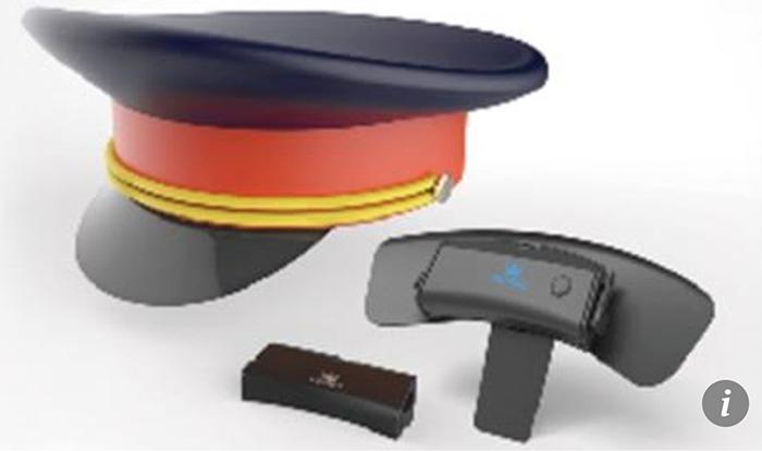 Sensor som detekterar emotioner för placering i statlig hatt.