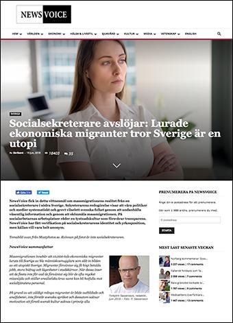 Artikel om ekonomiska migranter som lurats till Sverige. NewsVoice.se