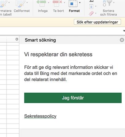 Sökningen i Microsoft Excel visar att programmet knappast respekterar din sekretess. Skärmdump: NewsVoice från Excel