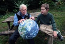 Jimmy Carter med sin sonson Hugo Wentzel, 2009. Foto: The Elders, Flickr.com, CC BY 2.0