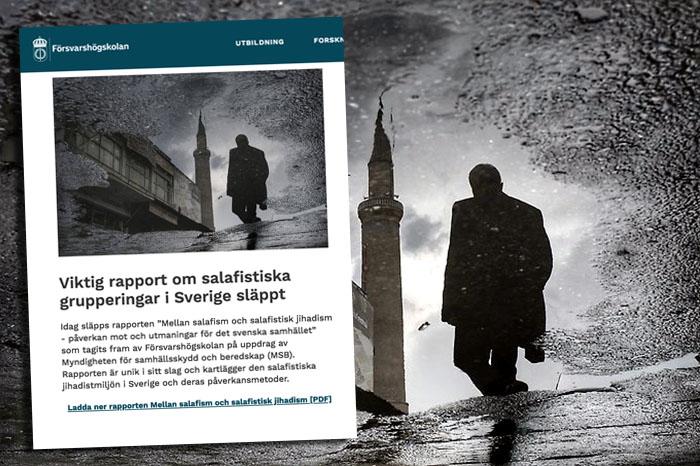 Försvarshögskolan släpper 2018 rapport om jihadismen i Sverige - Kollage: NewsVoice