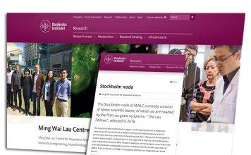 Ming Wasi Lau Centre. Montage av skärmdumpar från KI.se