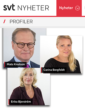 SVT profiler - Montage av NewsVoice baserat på skärmdumpar av pressfoton från SVT.se