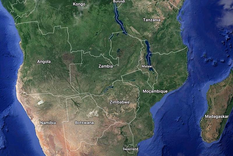 Zambia - Google Maps