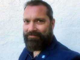 Andreas Fischer ordförande i fackförbundet Sjukhuslakarna Stockholm. Foto: selfie