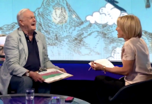 John Cleese och Emily Maitlis - Foto: BBC Newsnight