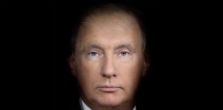 "Trump och Putin, ""morfade"" - Bild: Time Magazine juli 2018"