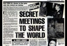 "Article: ""Secret Meetings to Shape the World"", Daily Mirror on the Bilderberg Group, February 13, 1980"