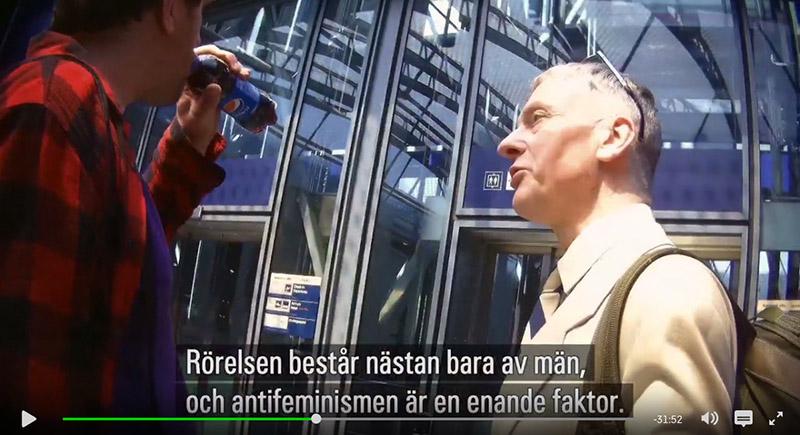 """Colin Robertsson och Stead Stedman. Fotoo från reportaget """"Spion i Extremhögern"""", SVT"""