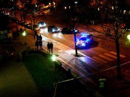 Polis i ett särskilt utsatt område i Sverige - privat foto.