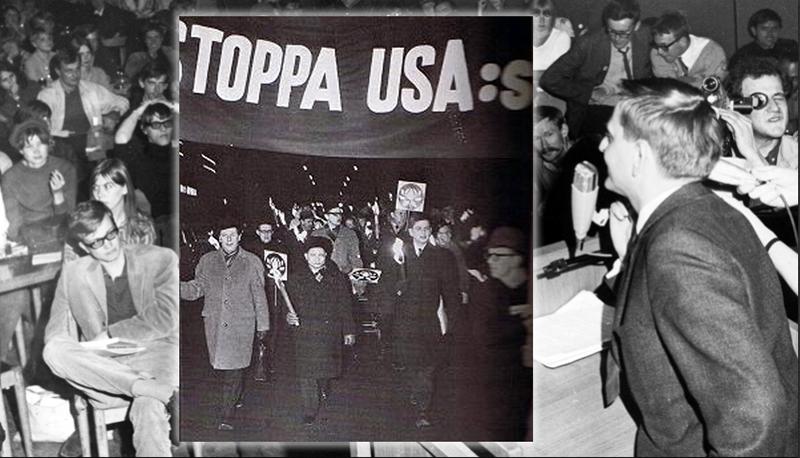 Olof Palme vill kasta ut USA ur Indokina under revolutionen på 1960-talet. Montage: NewsVoice, Creative Commons