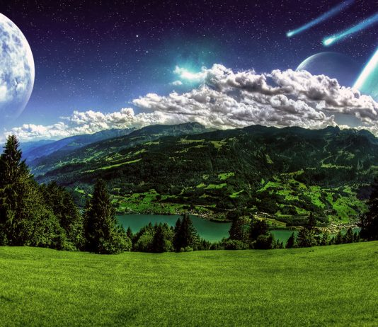 Green Planet. Licens: CC0. Bild: Billion Photos, Wallpaper.wiki