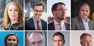 Partiledarna 2018 - Kollage: NewsVoice