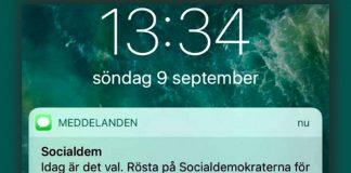 Socialdemokraterna spammar Sverige med mass-SMS under valspurten 2018