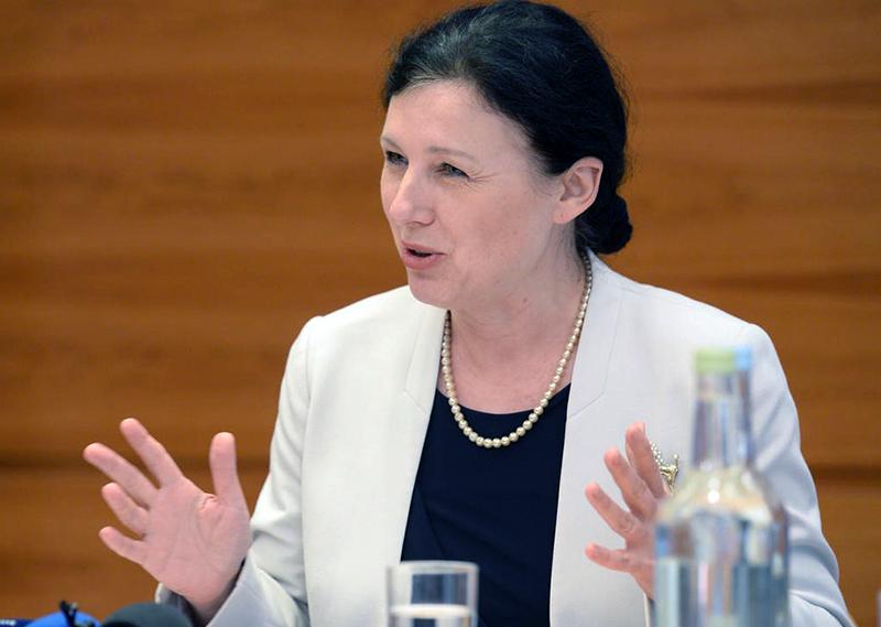 Vera Jourová, EU-kommissionären i rättsliga frågor - Foto: EU-parlamentet, Public Domain
