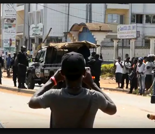 Cameroon clashes on October 6, 2018. Photo: Private citizen