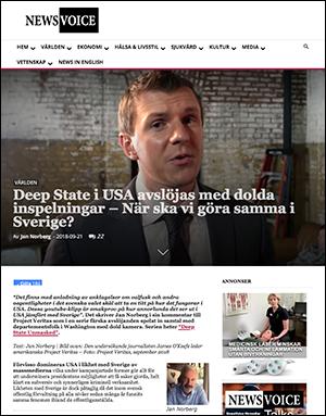 Deep State i USA avslöjas med dolda inspelningar – När ska vi göra samma i Sverige? - NewsVoice