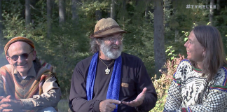 Geir Flatabø, Paul Stamets och Anne Elisabeth Scheen. Foto: Arnt-Olav Enger, TV Helse Norge
