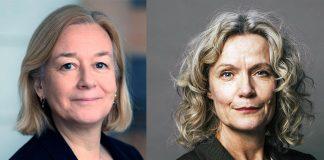 Marika Hedin (Riksbankens Jubileumfond) och Åsa Wikforss (Stockholms Universitet).