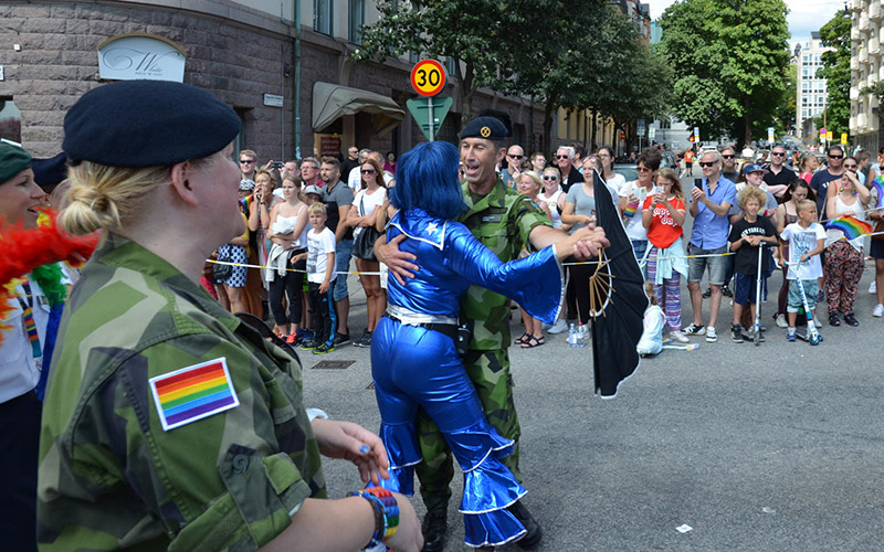 Micael Bydén på Stockholm Pride 2016. Pressfoto: Mattias Robertson, Försvarsmakten