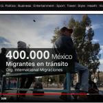 Migranter går mot Mexiko och USA i oktober 2018. Foto: CNN.com