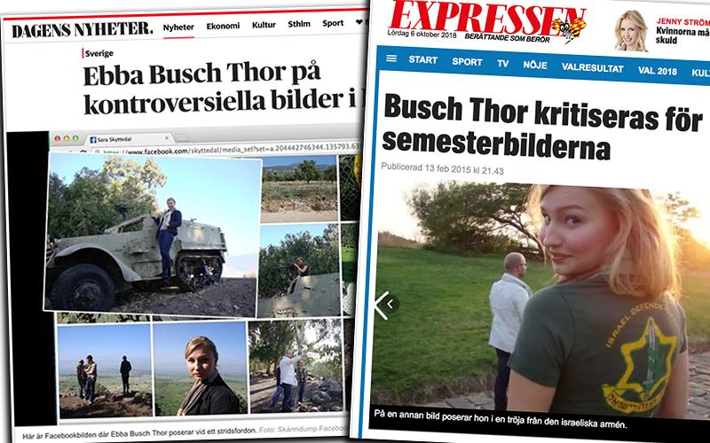 Kollage: NewsVoice. Skärmdumpar från DN och Expressen som tagit skärmdumpar från Facebooks sida skapad av Sara Skyttedal.