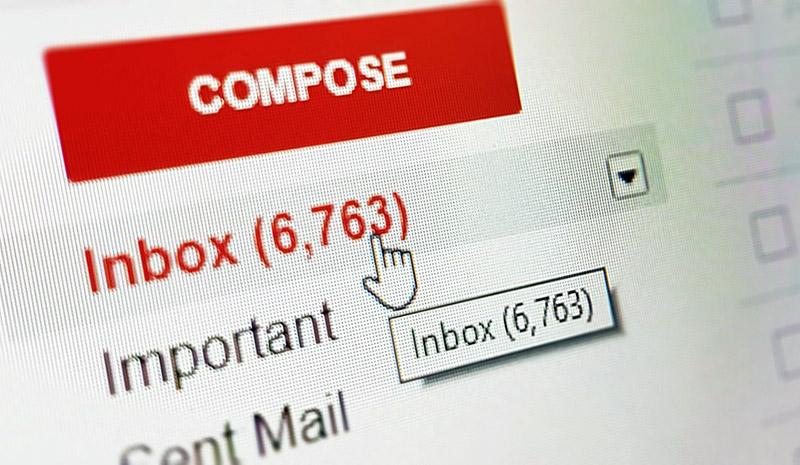Prokrastinering, inbox full av mail. Foto: Gabrielle_cc. Licens: CC0 1.0, Pixabay.com