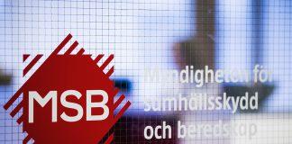 Myndigheten för samhällsskydd och beredskap (MSB). Pressfoto: Johan Eklund