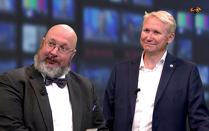 """Patrik Oksanen och Mikael Tofvesson (biträdande avdelningschef på Operativa avdelningen på MSB). Foto: Expressen.se, """"MSB: """"Hela samhället står till Kremls förfogande"""""""