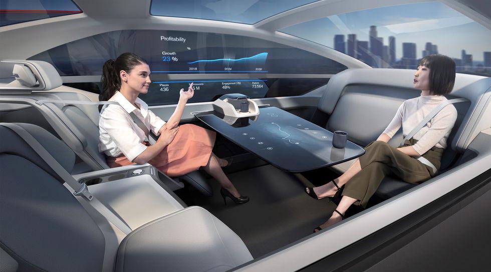 Volvos konceptbil 360c. Bild: Volvo
