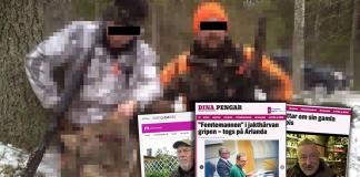 Illegal jakt - vargjakt. Montage: NewsVoice.se