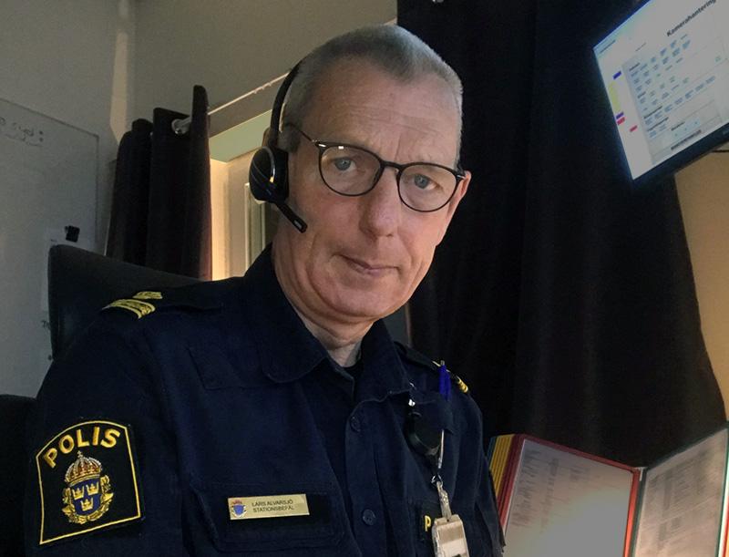 Lars Alvarsjö, Polisbefäl vid polisen i Stockholms län. Foto: privat