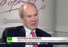 Mathew Burrows fd CIA-analytiker intervjuad av Russia Today. Foto: RT.com (dec 2018)