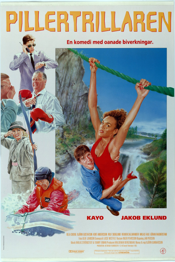 Den svenska komedin Pillertrillaren (1994) handlar om en läkemedelsförsäljare. Bild: Svensk Filmdatabas