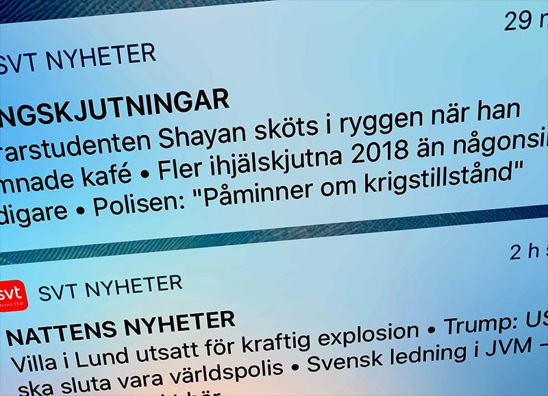SVT nyheter text-tv