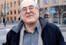 Rolando Zanzi från Svensk-Kubanska Föreningen. Foto: Comité Int. Paz Justicia Dignidad Cap. Suecia