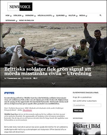 Brittiska soldater fick grön signal att mörda misstänkta civila – NewsVoice.se