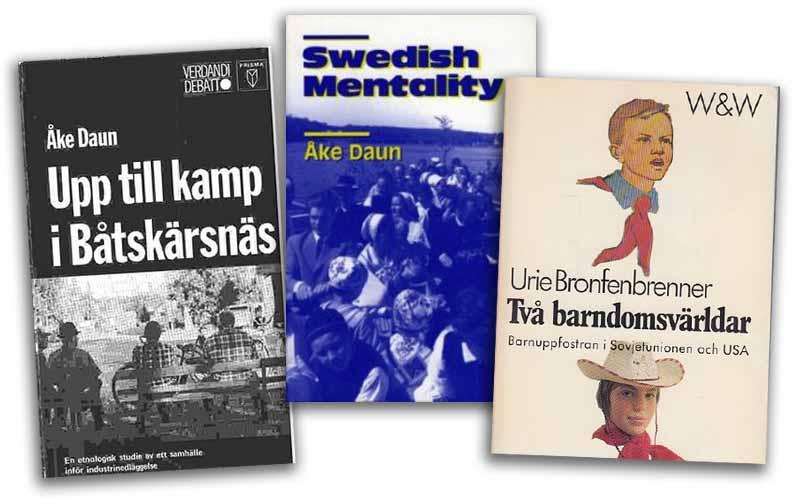 Böcker av Åke Daun och Urie Bronfenbrenner. Montage: NewsVoice