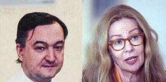 Sergej Magnitskij och Swedvanks VD Birgitte Bonnesen. Pressfotomontage