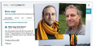 Montage: NewsVoice.Skärmdump från SR.se (P1). Reporter Simon Magnusson (foto: Mattias Ahlm). Michael Zazzio (privat foto)