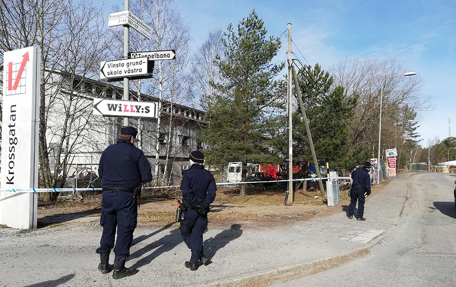 Sprängning i Vinsta, 27 mars 2019. Foto: NewsVoice.se