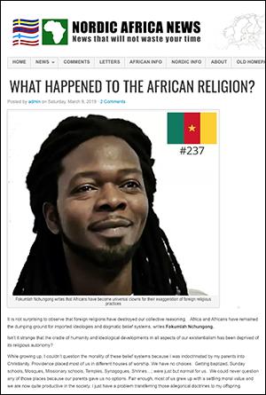 Fokumlah skriver för Nordic Africa News