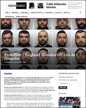 """NewsVoice: """"Pedofiler i England dömdes till 220 år i fängelse"""""""