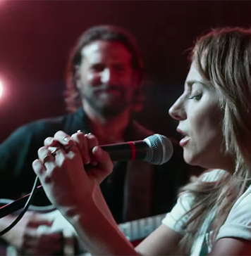 "Lady Gaga och Bradley Cooper sjunger ""Shallow"". Foto: Warner Bros. Pictures"