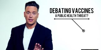 Vaccinera dig eller bli utstött. Foto på Ben Swann av Truthinmedia.com