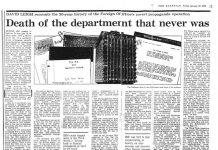 Information Research Department Article Guardian, 1978, dumo